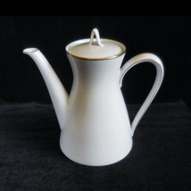 """Rosenthal Porcelain Medium Tea or Coffee Pot in the """"Classic Gold"""" pattern - $32.00"""