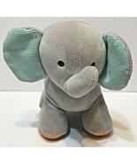 Child of Mine Carters Gray Elephant Orange Aqua Musical Wind Up Plush Lu... - $17.55