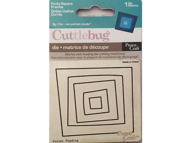 Provo Craft Cuttlebug Funky Square Frames Die #37-1098