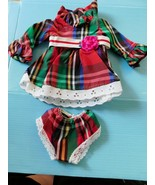 1970 IDEAL VELVET LOOK AROUND PLAID DRESS & PANTIES CrissyFactory Overst... - $21.78