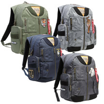 Aviation 88 Designer Multi Pocket Luggage Shoulder Bag Embroidered MA-1 Backpack