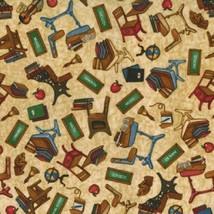 Creación el Grade-Dan Morris- RJR Fabrics -desks, Blackboards.books-fat 1/4 - $16.74