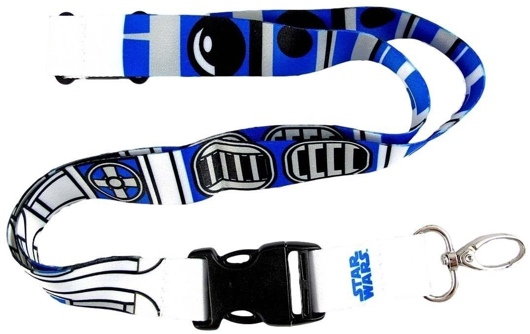 Star Wars R2-D2 (R2D2) Pattern Lanyard/Key Ring for sale  USA