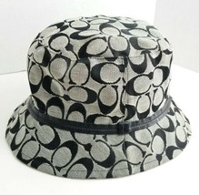Coach Women's Brown Tan Size P/S Bucket Monogram Logo Fabric Hat - $43.53