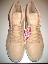 Vans Sk8-Hi Reissue Zipper Mens Veggie Tan Leather Skate shoes Size 11 NWT - $59.39