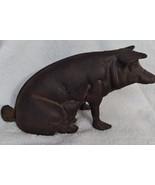 ANTIQUE  CAST  IRON  PIG  BANK - $21.00