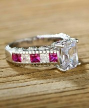 2.50Ct Cushion Cut Pink Sapphire Engagement Ring Solid 14K Rose Gold Finish - $116.99