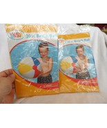 """lot of 2 blow up beach ball 20"""" from Sand n Sun - $6.95"""