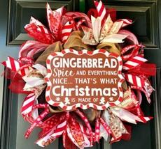 Ginger Bread Wreath, Christmas Wreath, Holiday Wreath, Whimsical Christmas  - $62.28