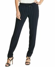 DKNY Women's Dress Pants Pinstriped Pull On Stretch, Size M, Navy/Ivory,... - $39.19