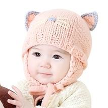 142f6f25ed3b IMLECK Cute Baby Kids Girls Boys Warm Winter Stretchy Cat Hat Beanie Pink -   18.18