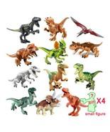 Jurassic Dinosaur Set Building Block Toy Figure Tyrannosaurus Velocirapt... - $29.00