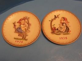 W. GOEBEL-PORZELLANFABRIK Handpainted Humell Annual Plates 1976-1978 Vintage - $24.74