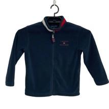 Tommy Hilfiger boys fleece jacket navy blue full zip front size 7 - $19.48