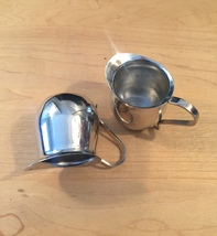 Set of 2 vintage Polar Ware stainless steel creamers/pitchers image 4