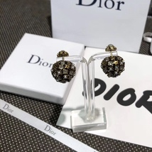 Authentic Christian Dior 2019 CRYSTAL STAR BEADS Double Pearl Tribales Earrings image 10