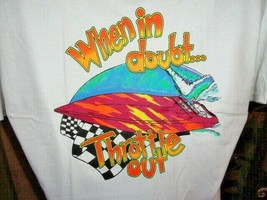""" When in Doubt Throttle Out ""   Hanes Beefy-T Shirt - $24.50+"