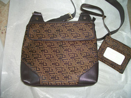 NWOT Liz Claiborne  Brown canvas Crossbody purse+ wallet  Back to school  - $27.72
