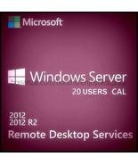 Microsoft Windows Server 2012 R2 Remote Desktop Services 20 Users CAL 64 bit KEY - $97.99