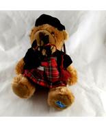 """Keel Toys Plush Scottish Bagpiper Bear Soft 8"""" sitting size Kilt Tam Beret - $18.80"""
