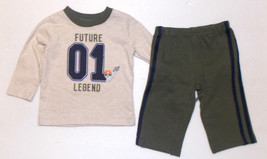 Child of Mine Infant Boys 2pc Outfit Future Legend Size 3-6 Months NWT - $10.49