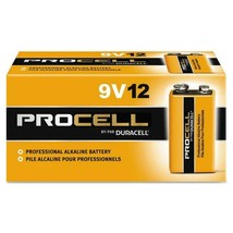 New Duracell Procell 9V12 9 Volt 12-PACK Battery Box (Expires 2022) - $12.50