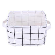 Cotton Linen Office Storage Box Desk Organizer Small Geometric Portable... - £9.47 GBP