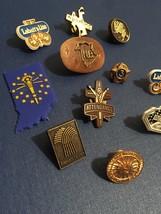 Vintage 70s Lapel Pins- Stick Pin Badges/Pin Backs- Metal/Plastic image 2