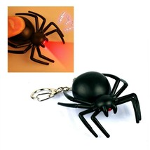 LED SPIDER KEYCHAIN with Light and Sound Fun Insect Animal Noise Key Cha... - $6.95