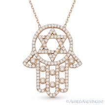 Magen Star of David Hamsa Hand of Fatima Jewish Pendant Sterling Silver Necklace image 2