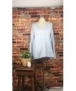 American Eagle Sweater Light Gray/Blue Small New V-Neck - $23.33