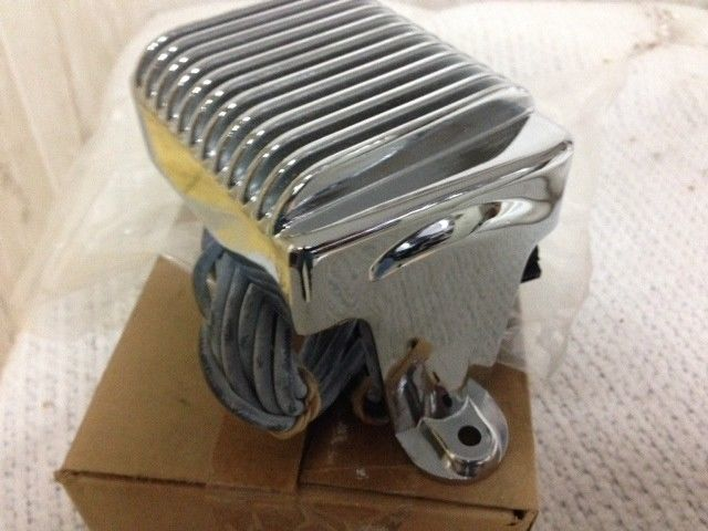 NOS Custom Chrome Voltage Regulator FLHT 97-01; FLHR/FLT 99-01