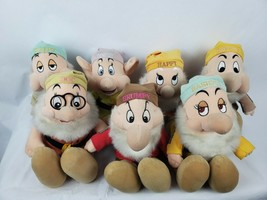 "Disney Store Snow White & The Seven Dwarfs 13"" Plush Complete Set 7 Dwarves - $181.40"