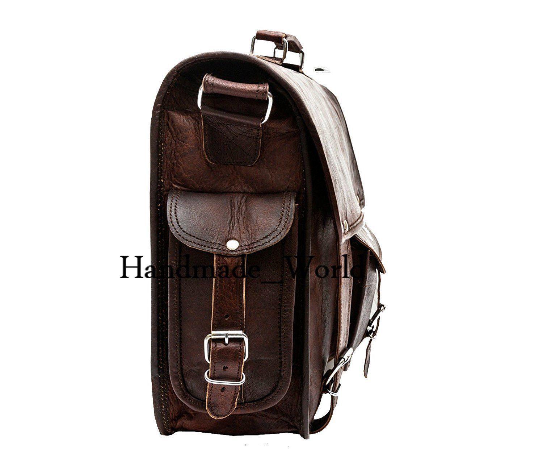 "Handmade_World Leather Messenger Bags for Men Women 18"" Men Briefcase Laptop Bag image 3"