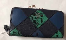 Coach ACCORDION ZIP WALLET WITH SNAKE EMBOSSED PATCHWORK F57591 - $97.17