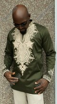 Odeneho Wear Men's  Polished Cotton Top/ Embroidery. African Clothing - $84.15+