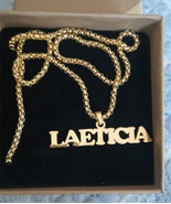 Gothic Jewelry Custom Name Necklace Stainless Steel Pendant Gold Long Be... - £27.34 GBP