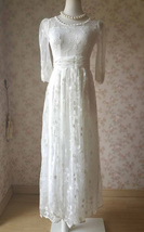White Boho Dress Long Boho Dress White Boho Wedding Dress Lace Bohemian Dresses
