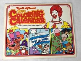 Vintage Ronald McDonald 1980 coloring calendar book collectible - $9.41