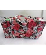 Vera Bradley Large Duffel Bag Mocha Rouge Travel Carry-On New - $69.29