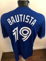 MENS MLB Baseball Jersey Toronto Blue Jays #19 Jose Bautista STADIUM GIV... - $34.64