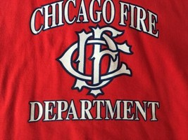 CHICAGO FIRE DEPARTMENT SWEATSHIRT Fruit Of The Loom XL Vintage CFD USA - $30.58