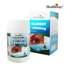 Healthway BILBERRY 10000 mg. 60 Capsules Eye Care Health 1 Box - $70.61