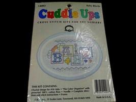 JCA Cuddle Ups Baby Blocks Baby Cross Stitch Kit With Frame Size 6″ x 4 ... - $10.78