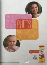 PRINT ADVERTISEMENT For Gerber Graduates Puffs First Snack 2016 - $2.50