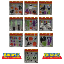 WINDOW CLINGS Spooky Village HALLOWEEN Gel Clings Trick or Treat  Glow  ... - $7.49