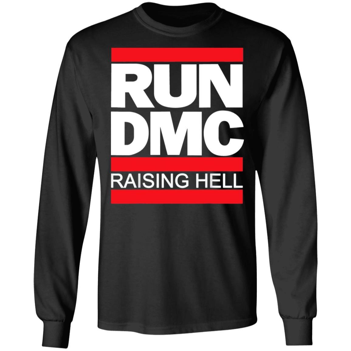 USA Cool Gift - Run DMC Official Logo Raising Hell Long Sleeve T-Shirt S-5XL