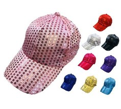 Sequin Women Teens Hat Ball Cap Many Colors New! - $8.95+