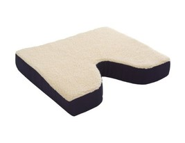 Essential Medical Supply Fleece Covered Coccyx Cushion, 16 Inches X 16 I... - $23.93