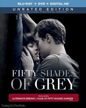 Fifty Shades of Grey Movie (Unrated Blu-ray Edition) Theatrical DVD + DI... - $19.33